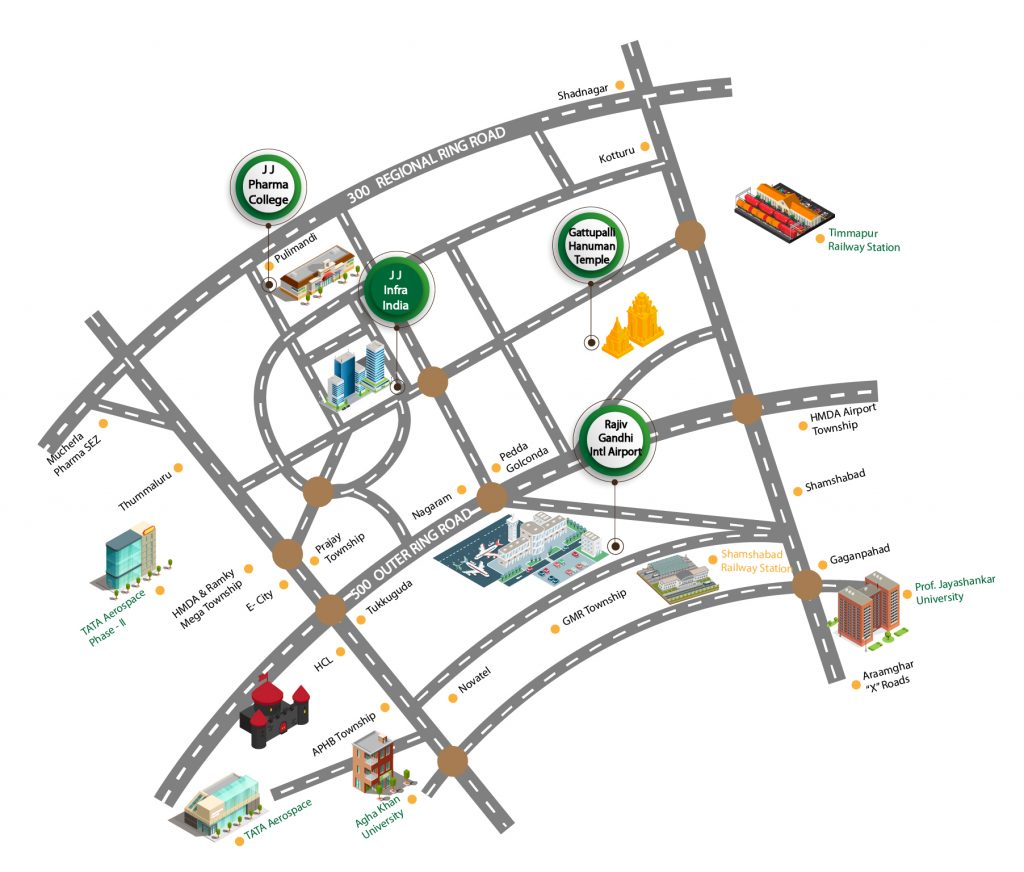 JJ Infra Lotus Location map